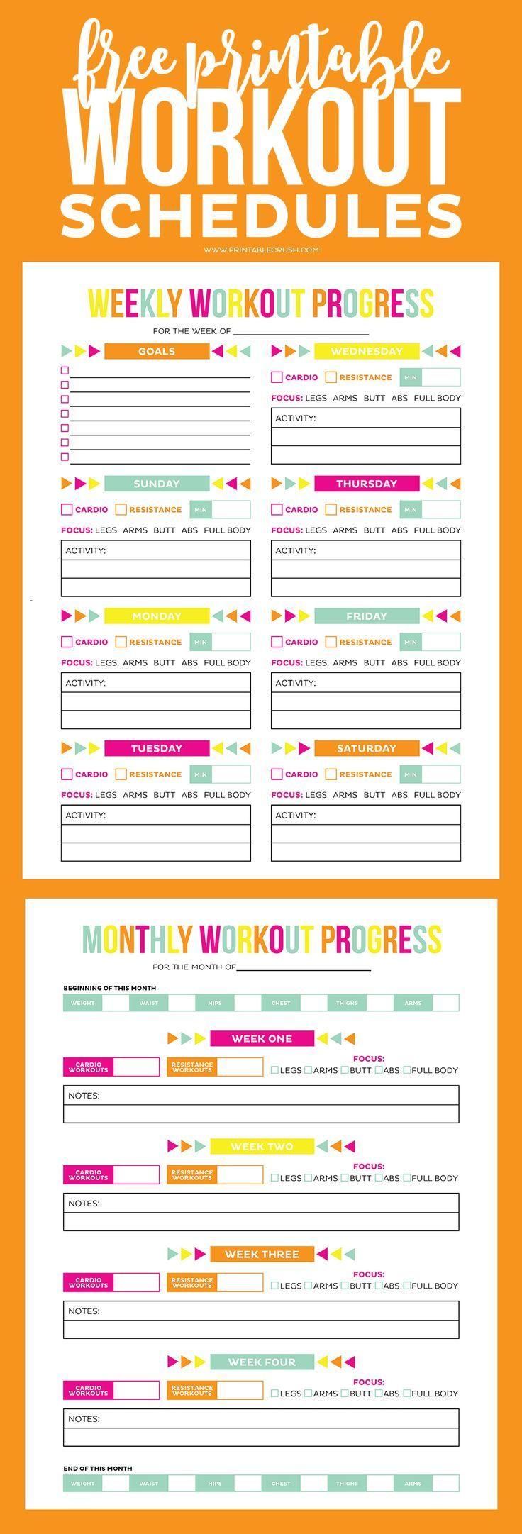 free printable workout journal