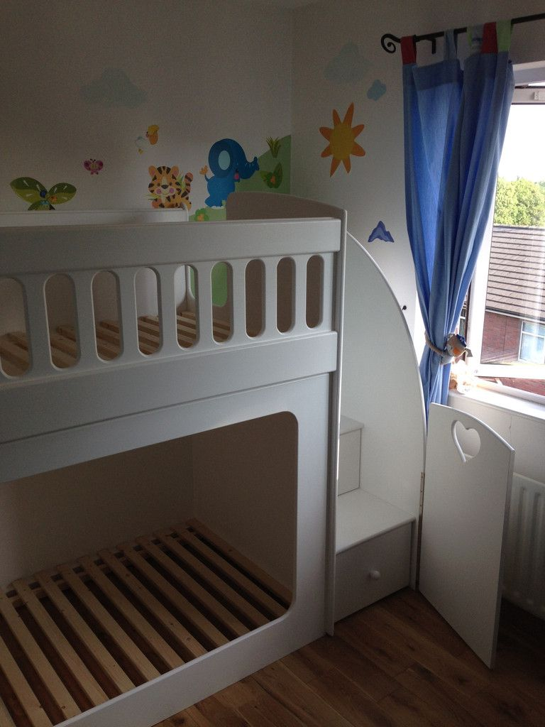 Bunk Beds With Drawer Stairs Comes With Stair Gate Baby Bunk
