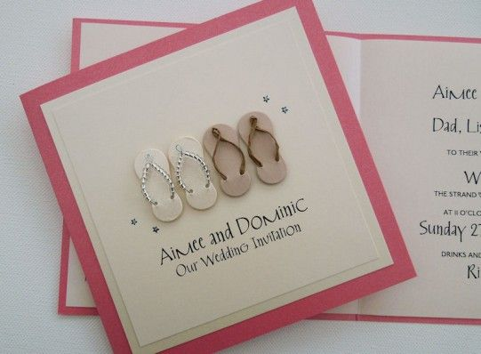 Flip Flop Wedding Invitations Perfect For A Beach Whether At Home Or Destination Overseas Abroad