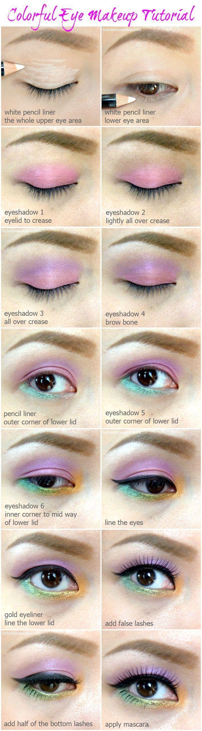 Tutorial paso a paso de pintalabios | Maquillaje colorido paso a paso tutorial ….