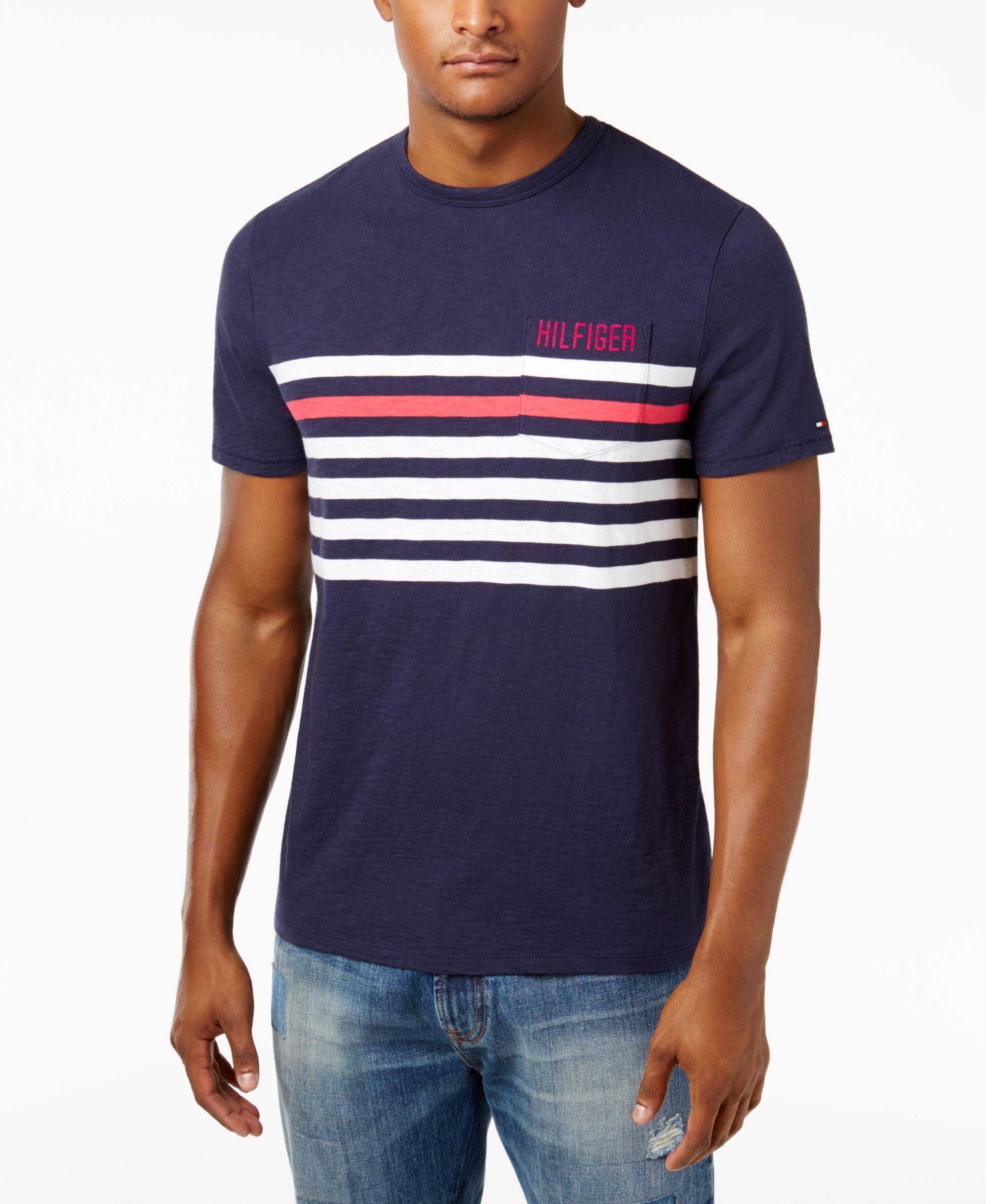 559354d901 Tommy Hilfiger Men's Striped T-Shirt | Products | Tommy hilfiger, T ...
