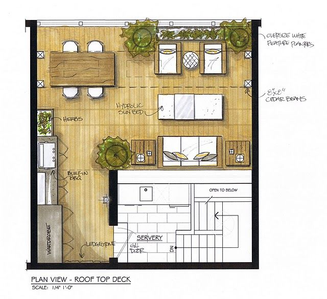 Urban Rooftop Deck Plan Rooftop Design Deck Design Plans Rooftop Deck