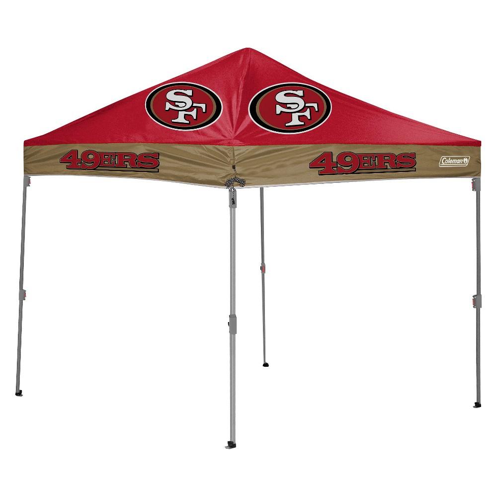 NFL Coleman 10x10 ft. Straight Leg Canopy Tent - San Francisco 49ers  sc 1 st  Pinterest & NFL Coleman 10x10 ft. Straight Leg Canopy Tent - San Francisco ...