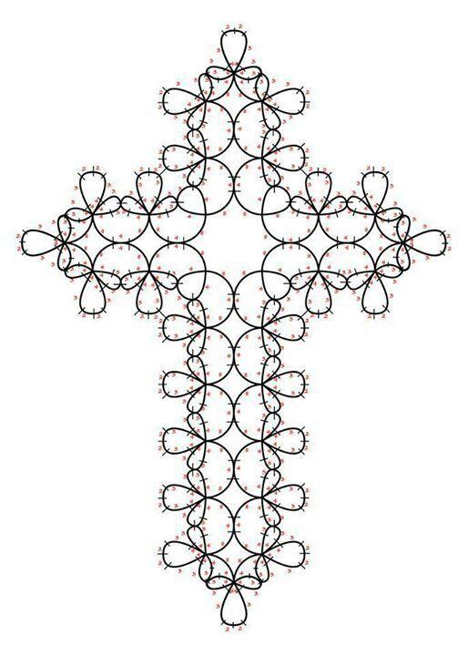 Crocetta | Cruces yotube | Pinterest | Frivolo, Cruzado y Telar