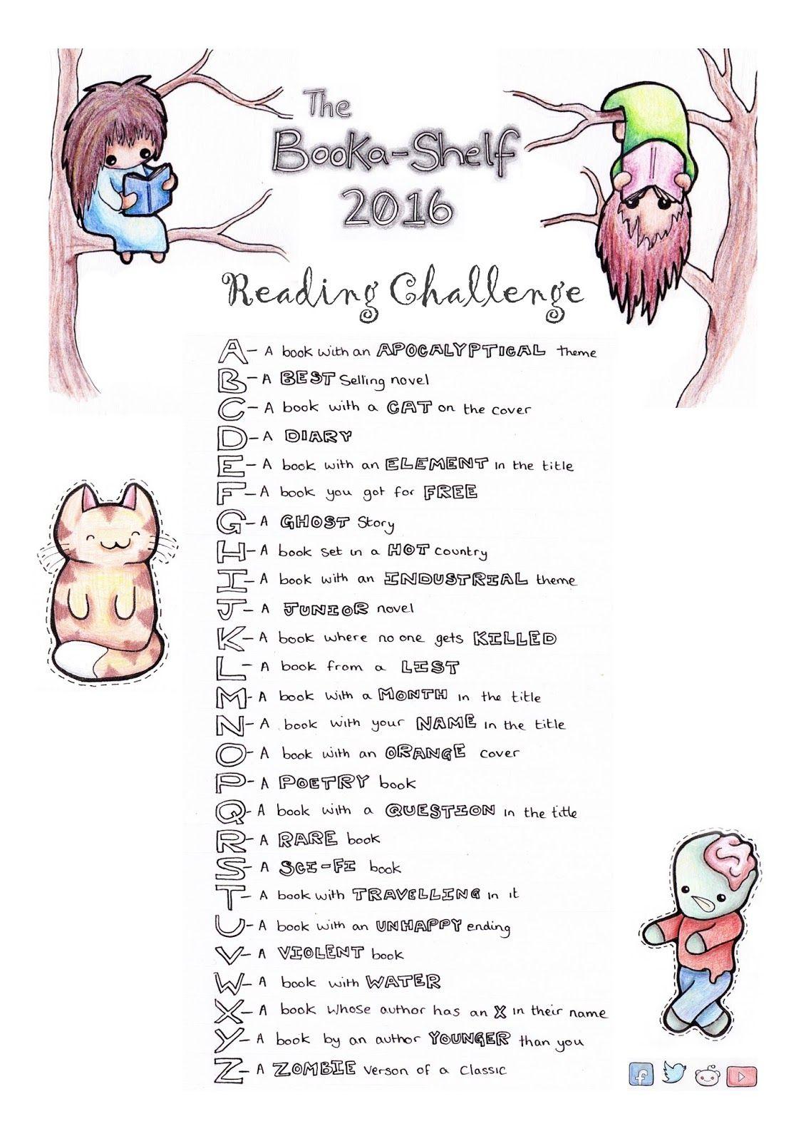 Rebeccah Writes Bookashelf Reading Challenge