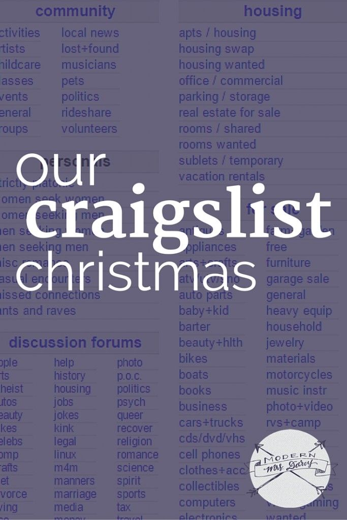 Our Craigslist Christmas  | Making Your Home a Haven | Frugal