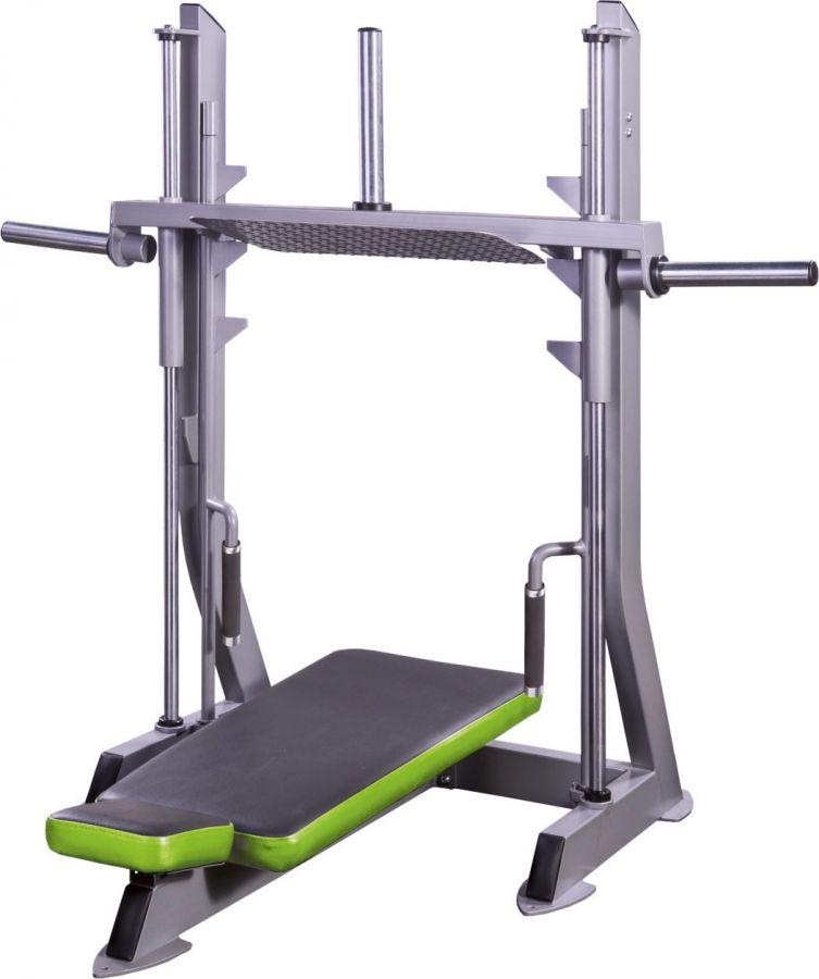 Vertical leg press for sports machine