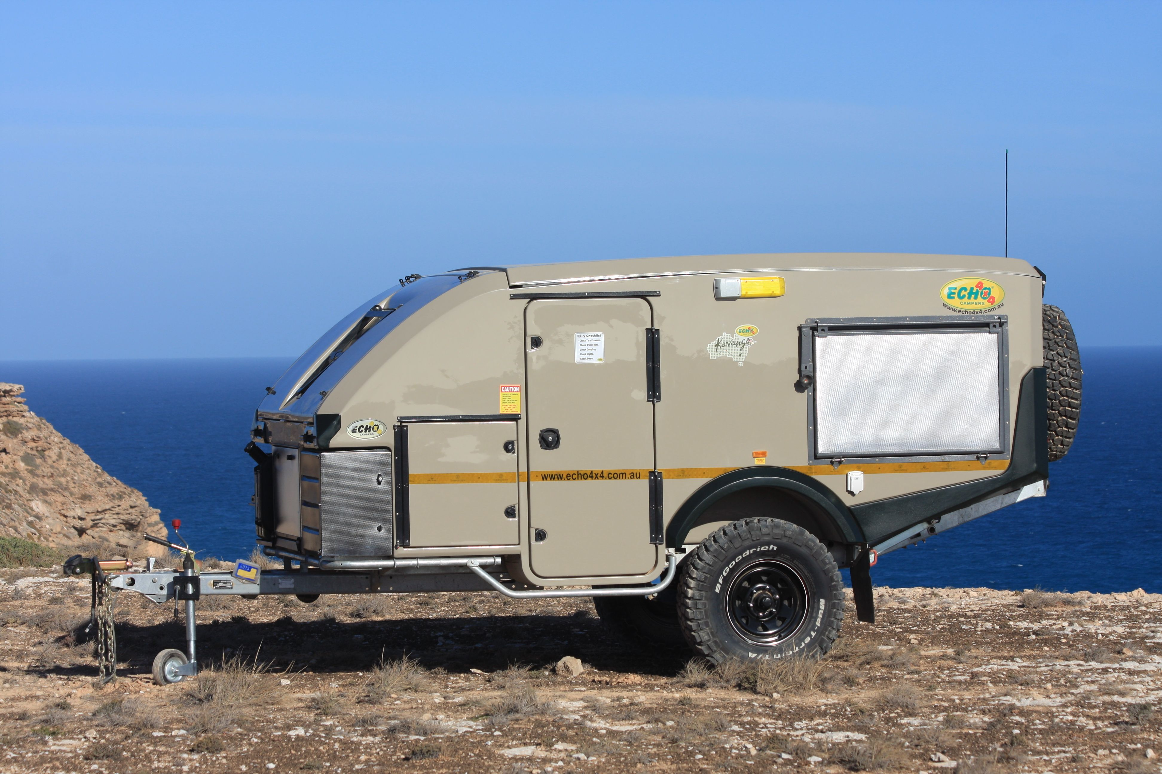 Beautiful New BLUE TONGUE CAMPER TRAILERS OFF ROAD TREKKA RV Towing For Sale