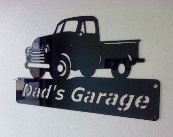 Charmant Man Cave / Chevy Truck / Personalized Metal Sign / Chevrolet / Pick Up /