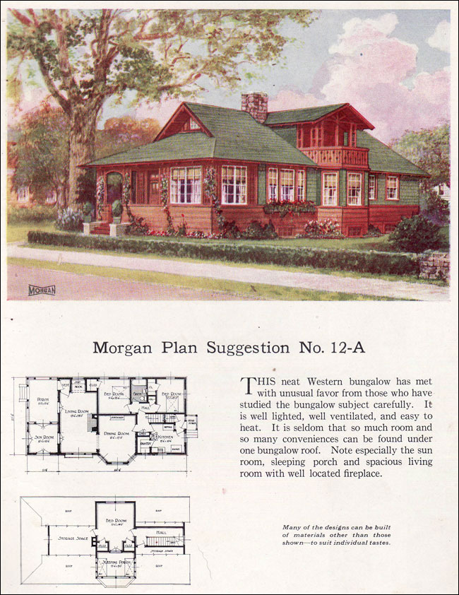 Swiss Chalet Bungalow 1923 Morgan Sash and Window Building with Assurance Catalog No 12 A
