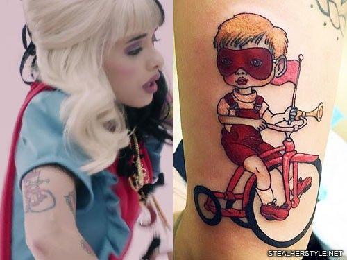 Melanie Martinez Bicycle Boy Tattoo Melanie Martinez Crybaby Melanie Martinez Melanie