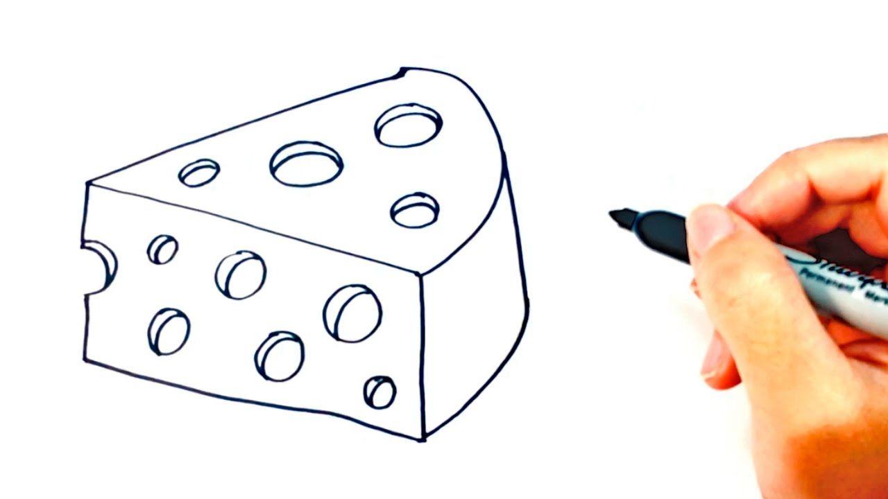 Como Dibujar Un Queso Para Ninos Dibujo De Queso Paso A Paso