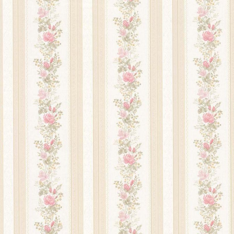 vintage rose englische landhaus satintapeten rosen streifen art nr 68352. Black Bedroom Furniture Sets. Home Design Ideas
