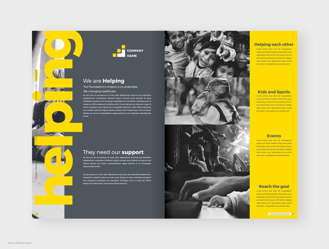 Company Profile Brochure Coreldraw Template Company Profile