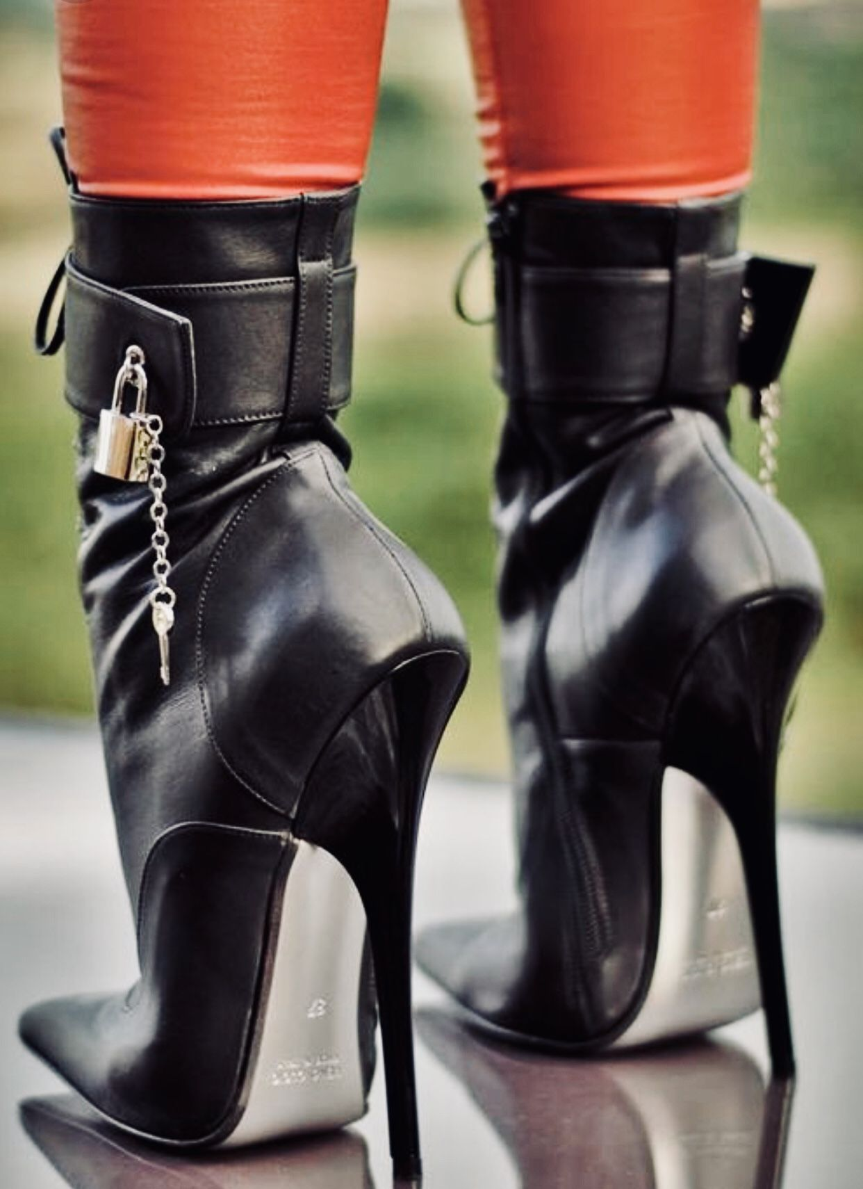 53a312d77ea5 Ankle boots with locks. Find this Pin and more on Real Heels ...