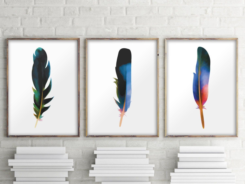 Printable wall art Set of 3 print Apartment von TwoBrushesDesigns