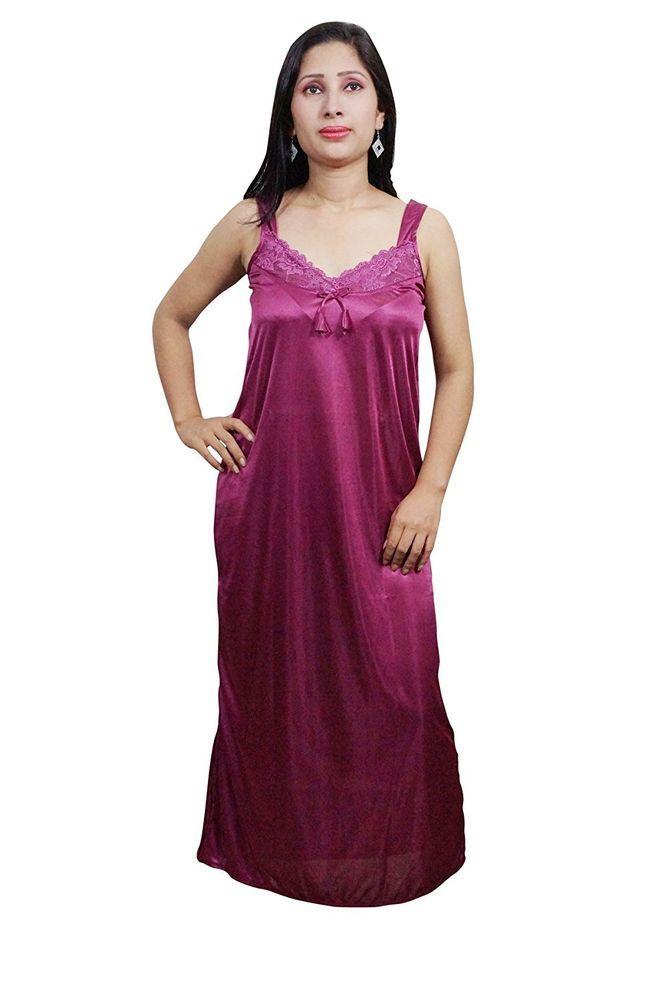 9d3caa45bc5 Indiatrendzs Women Sexy Nighty Satin Pink 4pc Set Nightwear Robe ...