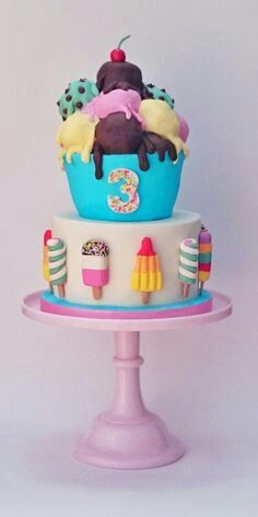 Ice Cream and Cupcake Cake