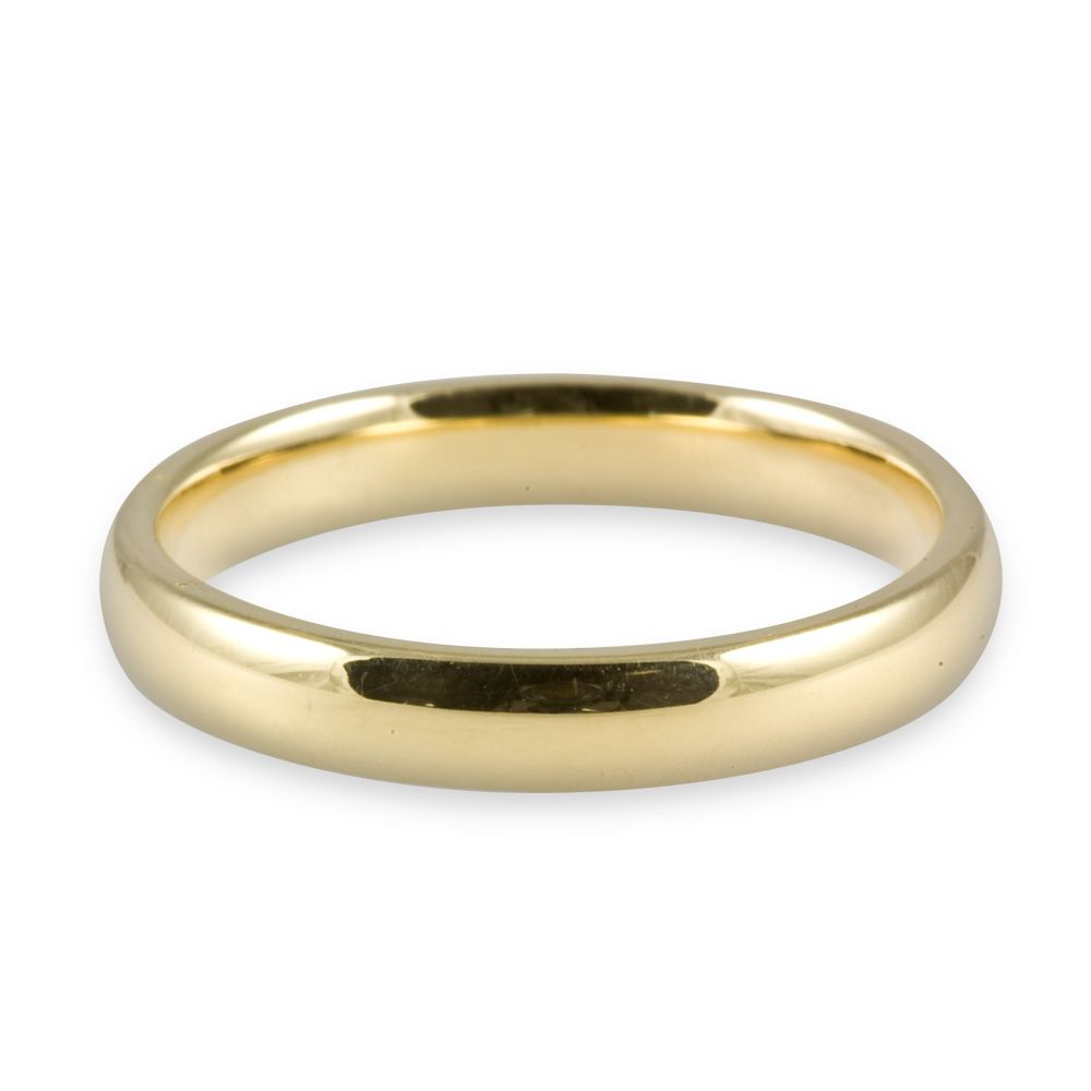 4mm 18ct Pure Welsh Gold Court Wedding Ring