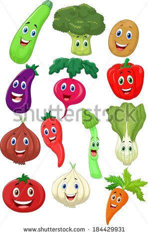 Cute Vegetable Cartoon Character Vegetable Cartoon Vegetable Illustration Vegetable Drawing