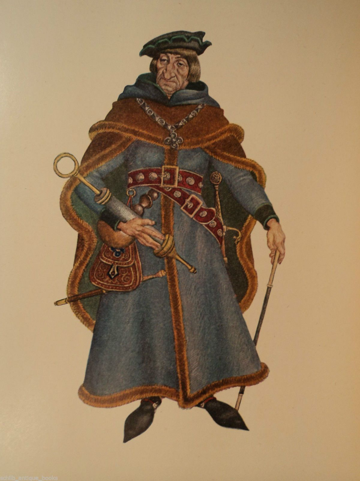 1st Ed Canterbury Tales Geoffrey Chaucer Color Plates