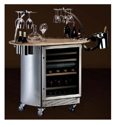 Presentoir A Vin Refrigere De Capacite 45 Bouteilles Equipe D Un