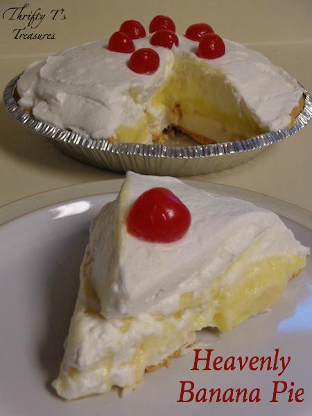 Heavenly Banana Pie - Tshanina Peterson #bananapie