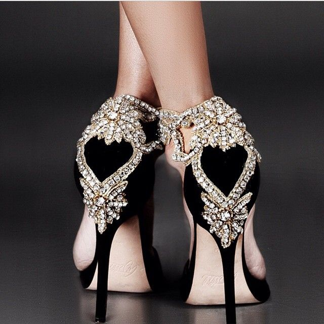 Whoa now these are glamorous heels life must have for Black shoes with wedding dress