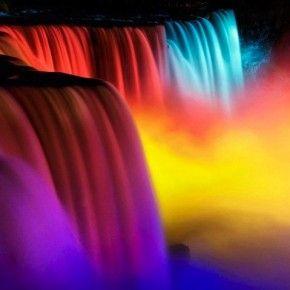 Niagara Falls at night  perfectioner.com