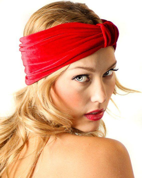 Velvet Turban Headband   Red Velvet Headband   Kristin Perry ... fa2245e6354