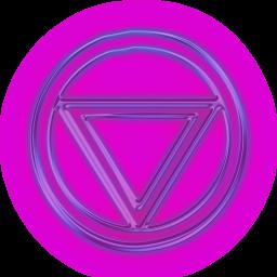 Neon Purple Circle Down Arrow Icon Circled Right Triangle Arrow Icon Purple Down Arrow Icon Neon Purple
