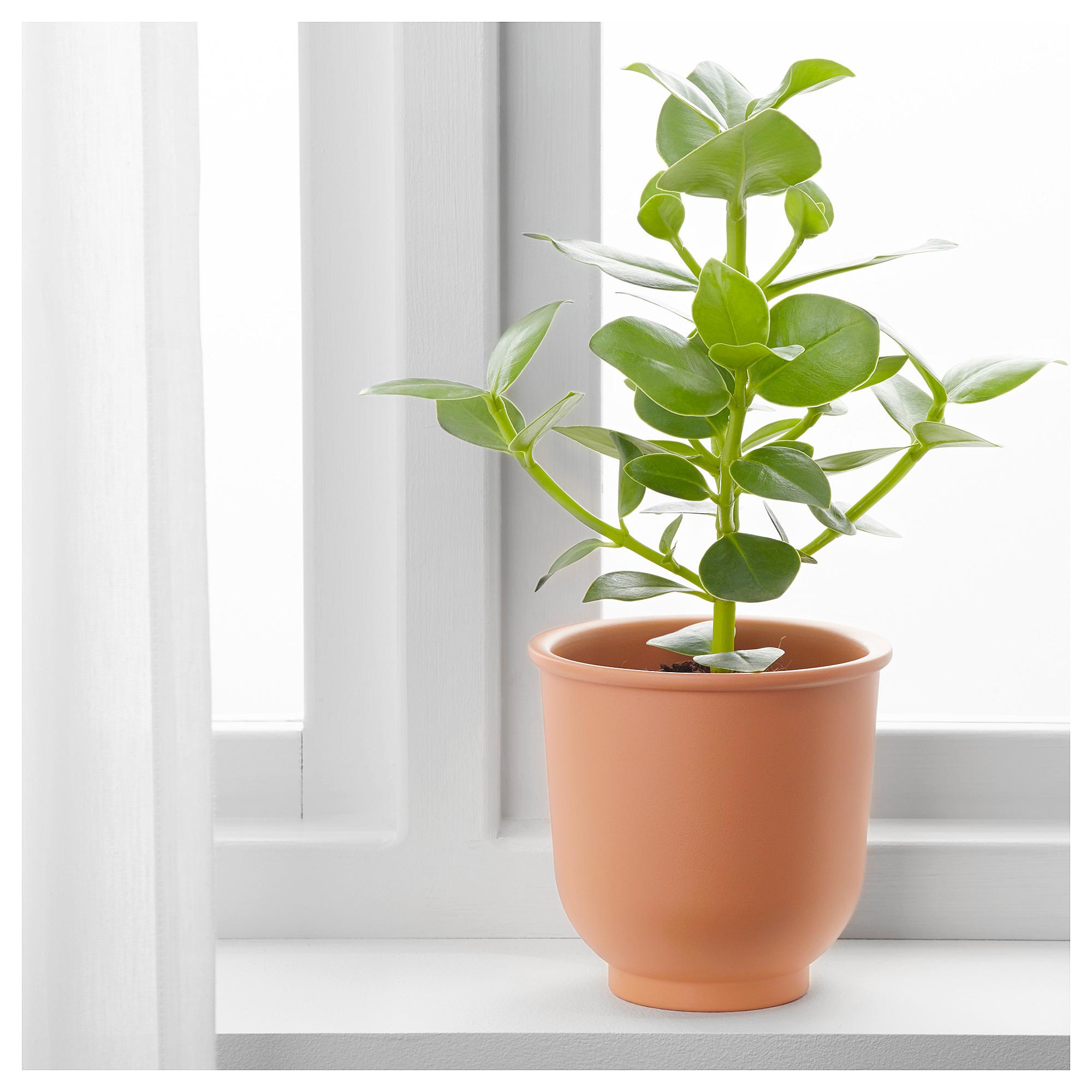 Ikea BrytÄrt Plant Pot Red Brown