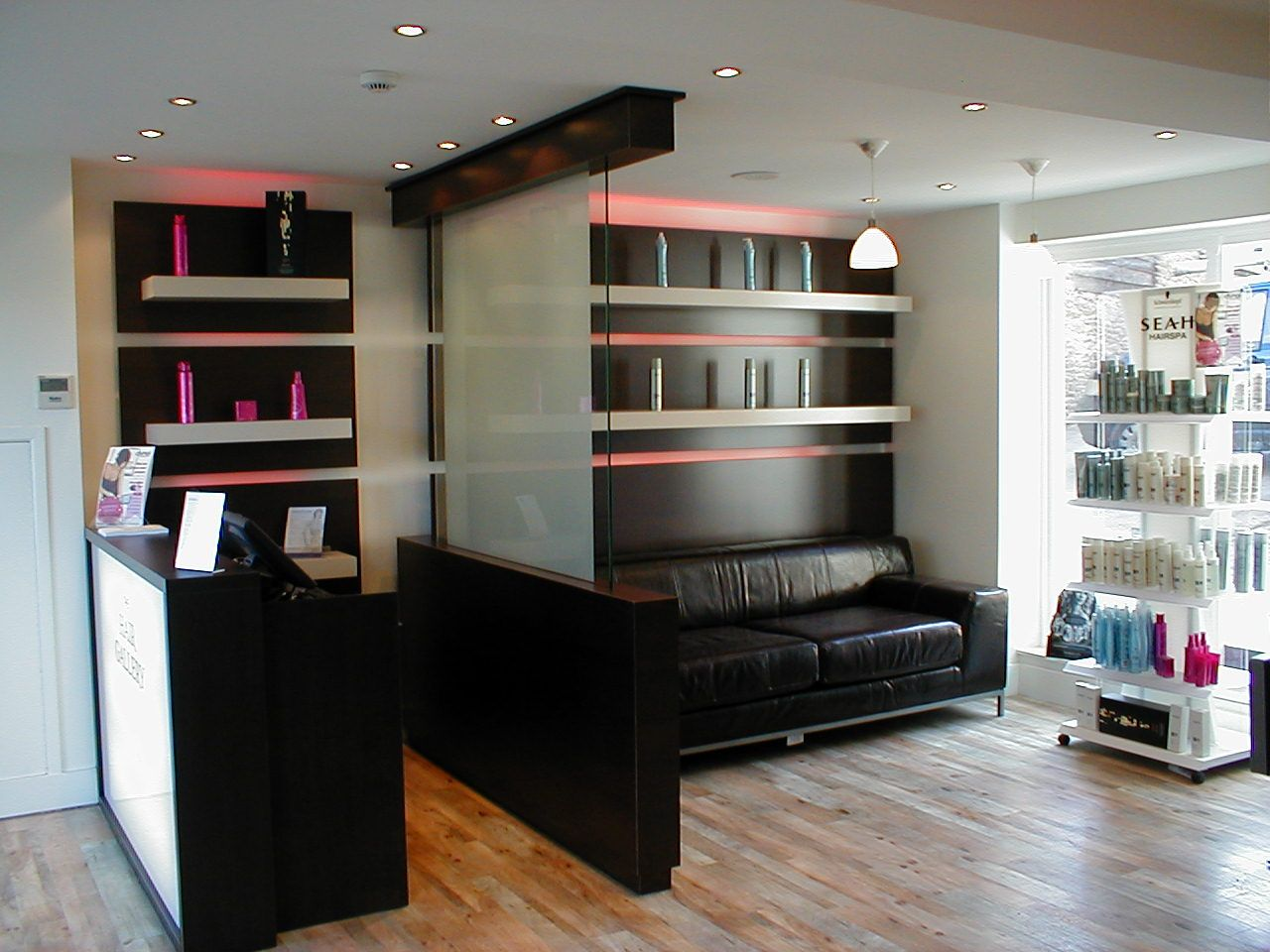 #Gorgeous display solutions for a local #HairSalon.. Check out our site for more info #HairDressers #Display