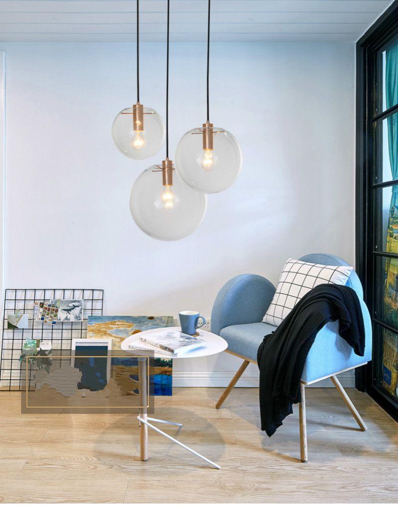 Moderne Nordic Glanz Globus Lichter Leuchte Home Deco Glaskugel