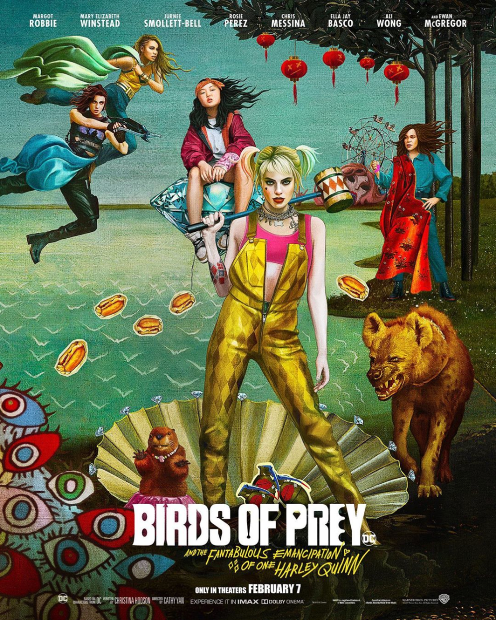 New Poster Art For Dc S Birds Of Prey Includes Bernie The Beaver Em 2020 Aves De Rapina Posteres De Filmes Imagens Aleatorias