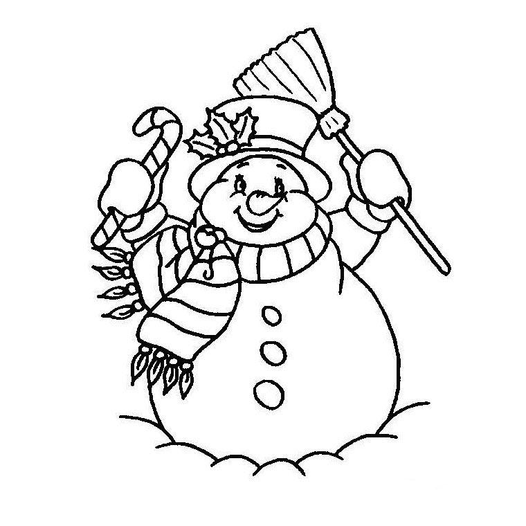 Coloriage bonhomme de neige gratuit a imprimer gratuit dessins - Bonhomme de neige a imprimer gratuit ...