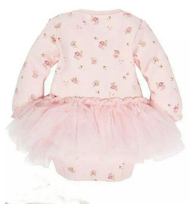TUTU FLORAL PINK BABY GROW