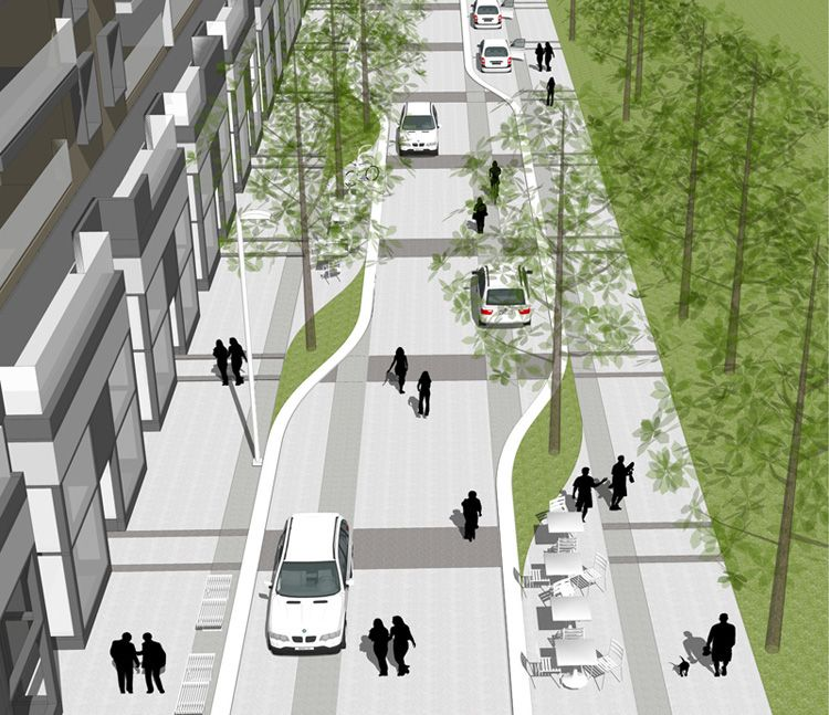 Dayton St Streetscape Colorado Landscape Architecture: A Compact And Connected Master Plan, With A Mixed Use
