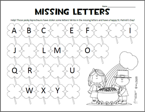 Worksheet Alphabet Worksheets Printable Free printable of the week st patricks day alphabet worksheet worksheet