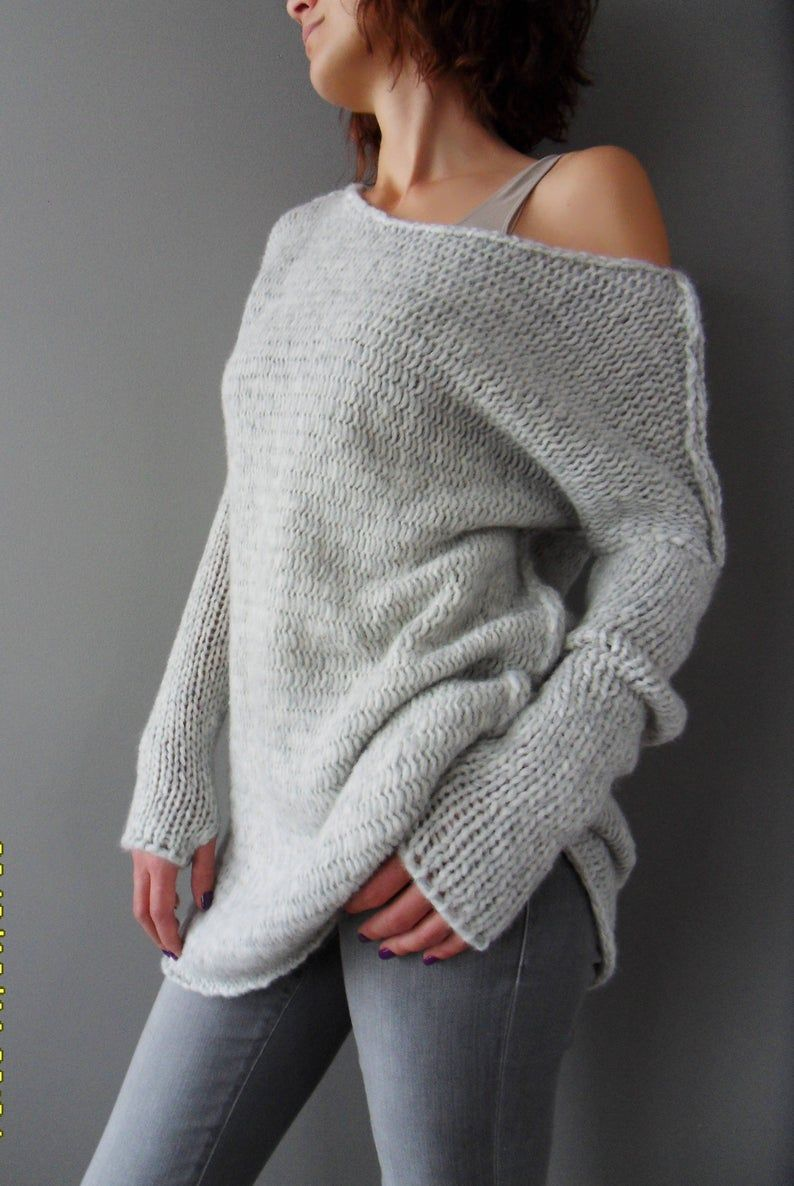 Alpaca slouchy knit sweater dress .Thumb holes sweater by Roseuniquestyle Sweater for woman
