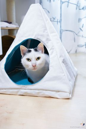 Katzenhöhle selber machen | nähen | Pinterest | Nähen, Nähen ...