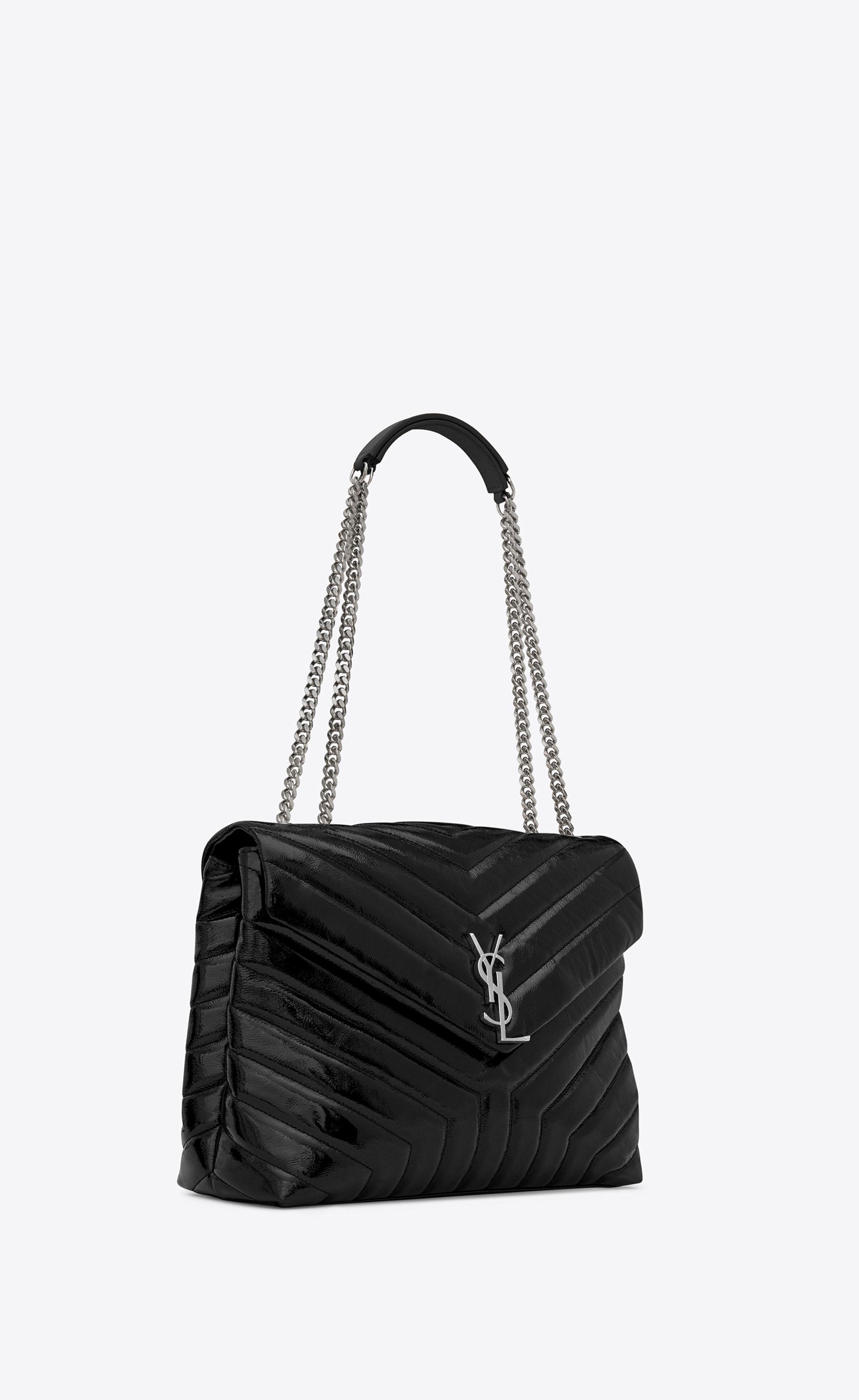 7651e359bf Saint Laurent - Medium Loulou chain bag in black