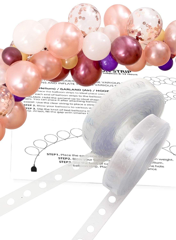2 rolles x 16ft modern balloon garland arch strip easy