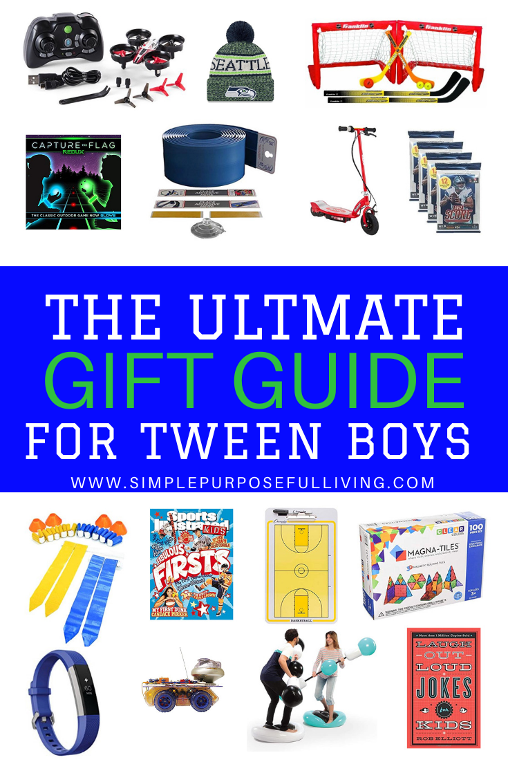 20 Best Gifts For Tween Boys Ages 6 12 Simple Purposeful Living In 2020 Best Gifts For Boys Tween Boy Gifts Gift Guide