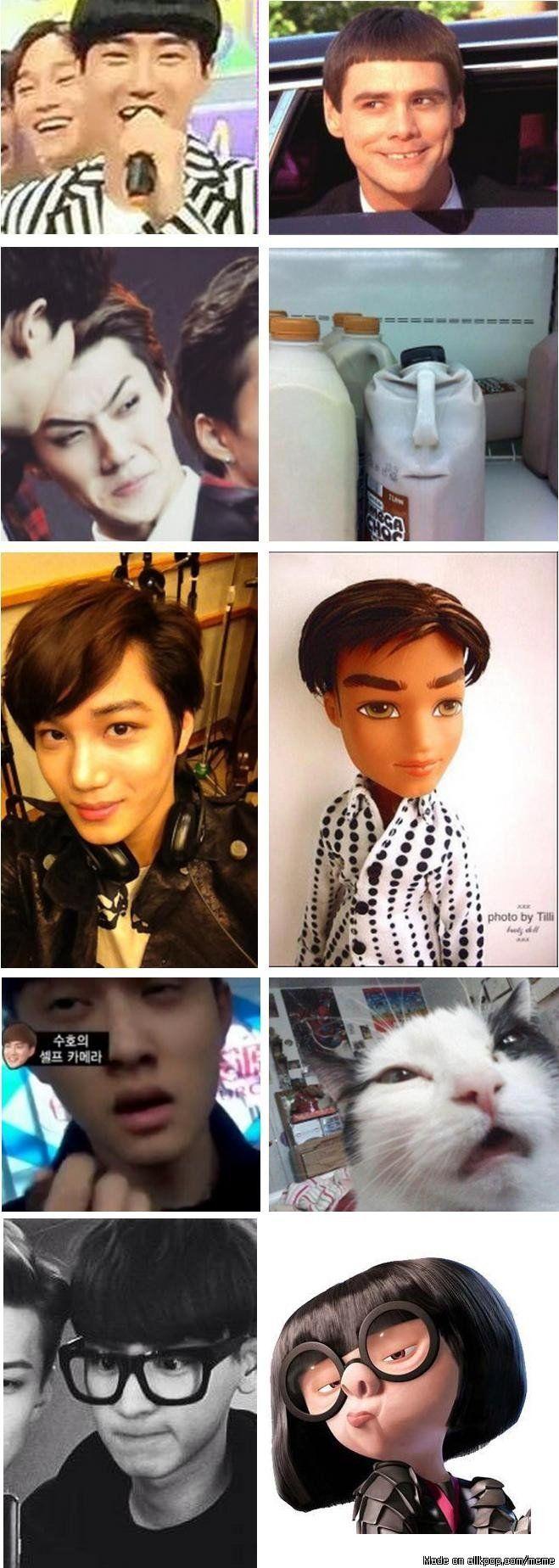 Look Alikes allkpop kpop EXO Exo memes, Kpop memes