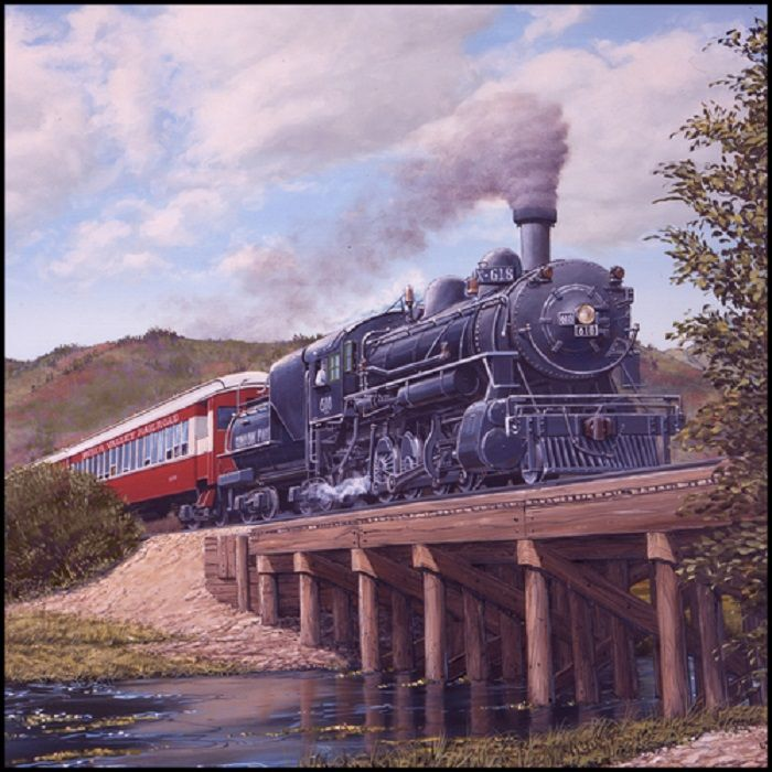 Locomotion Panel By Blank Quilting-Train-Steam-Trestle-1
