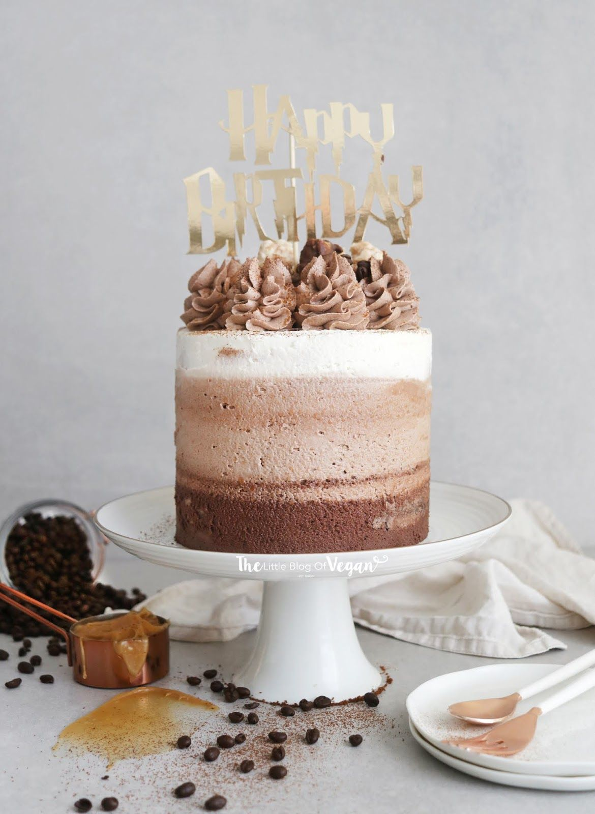 Pleasant Chocolate Coffee Ombre Cake With Images Coffee Cake Recipes Personalised Birthday Cards Vishlily Jamesorg