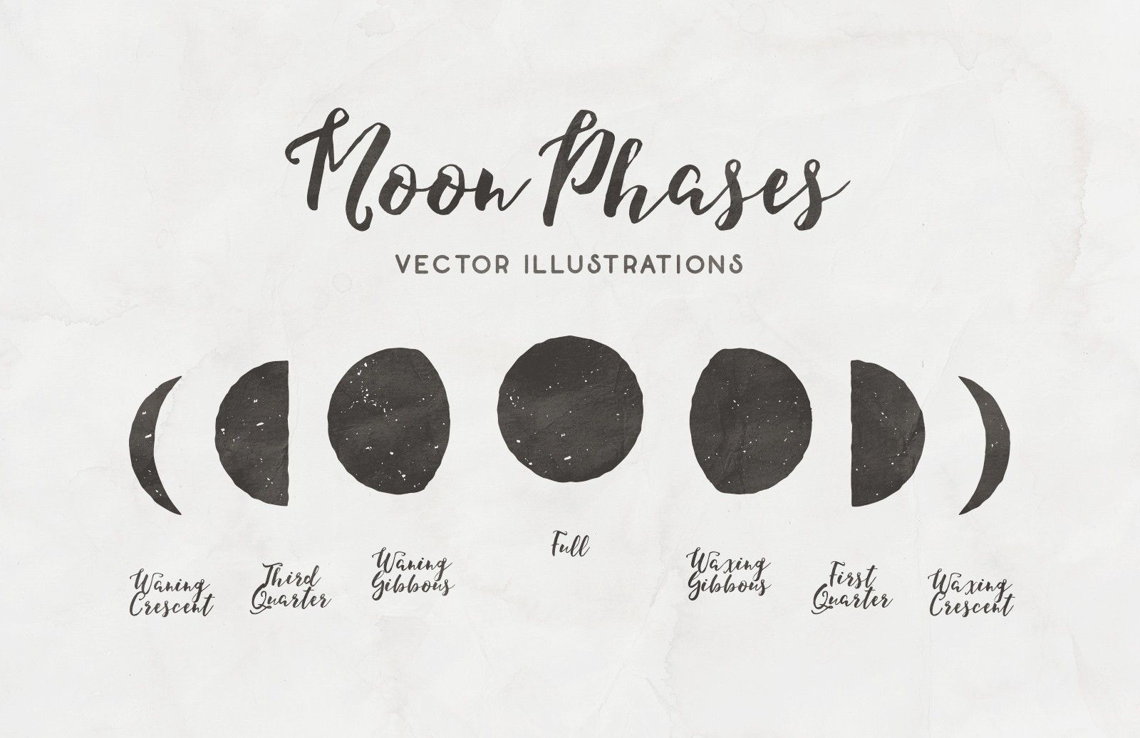 Moon Phases Free Vector Illustrations Moon Phases Free Vector Illustration Moon Cycle Tattoo