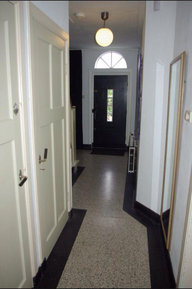 Gang met granito vloer inspiratie voor verbouwing pinterest met jaren 30 stijl en vloeren for Schilderen voor gang d