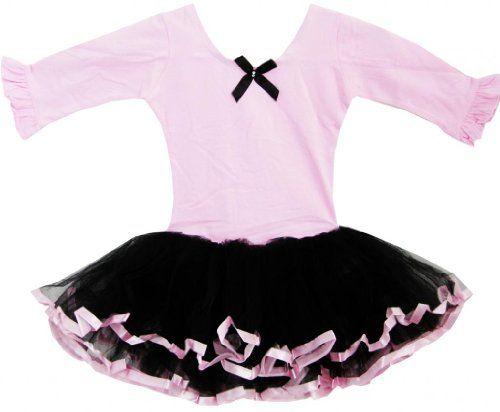 Sunny Fashion Girls Dress Tutu Ballet Dancing Belt Trimmed Layers Pink Kids